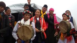 Jhyangju avec les musiciens Gosaikund 2016