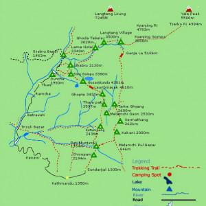 Carte du Langtang