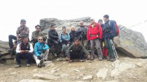 Les trekkeurs de TPH Langtang 0ctobre 2016