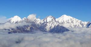 121 JP Le Ganesh Himal depuis la montée au Surya Peak