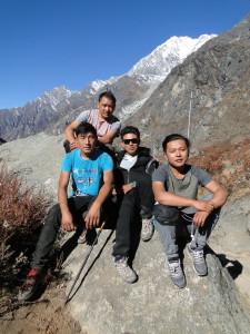 28 JP Lhakpa, Gyurmay, Nima et Chowang