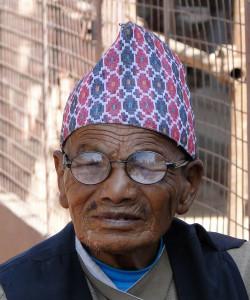 6 JP Visage avec Topi à Patan