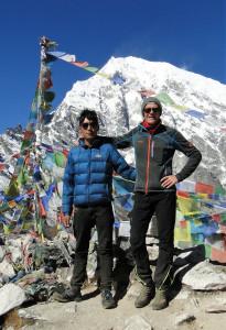 74 JP Lhakpa et JPaul sommet du Kyanjin Ri 4700m